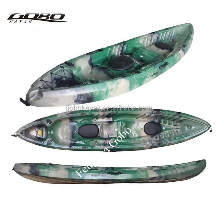 Lldpe hull material double cheap fishing kayak view cheap for Double fishing kayak