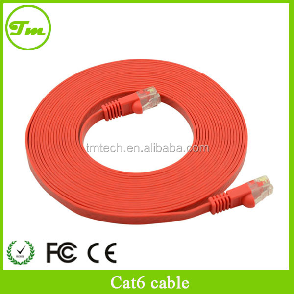 Red 3ft Network Cable Snagless Ethernet Patch Flat Cat6 Cable
