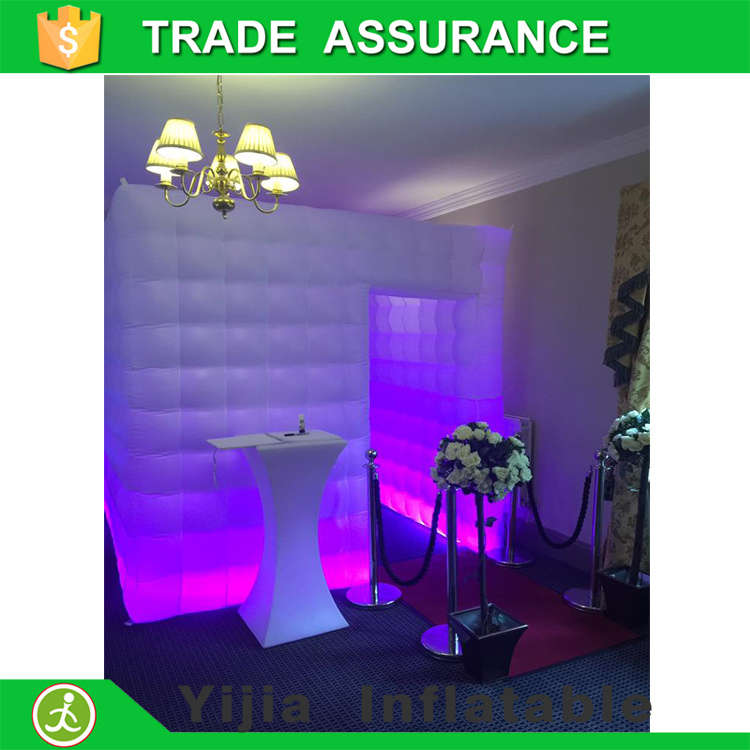 Free shipping high quality white led <strong>inflatable</strong> 3d photo booth