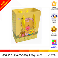 Alibaba china decorative 3d cake full printing cream gift paper bags with ribbon handles