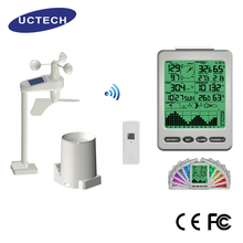 Popular function Display Wall hanging portable home digital with color screen wireless weather station wind speed direction