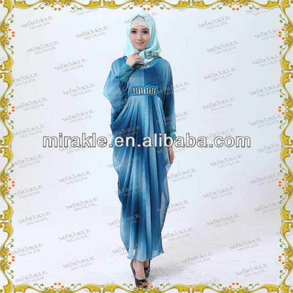 MF16586 Beautiful Colourful Print Arab Abaya HOT SALE