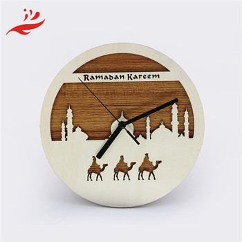 Modern simple wood digital wall clock decoration