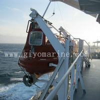 ocean going freighter life boat resistant totally enclosed frp fiberglass lifeboat for sale