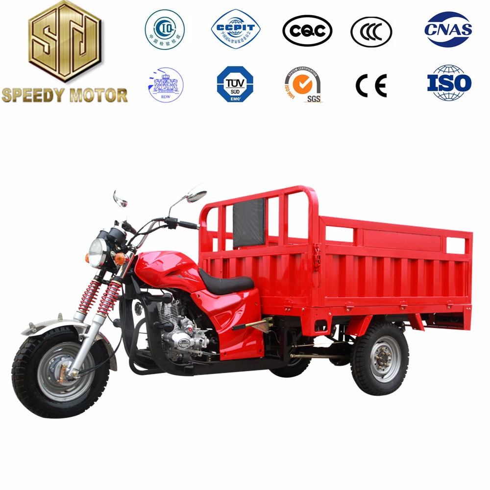 Three Wheel Cargo Motorcycle Boosting Rear Axle Double Front Absorber