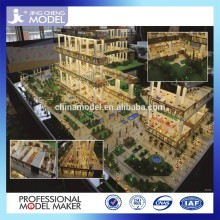 Commercial building model with interior furniture & landscaping layouts
