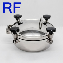 RF Sanitary Stainless Steel Circular Manhole Cover With Pressure