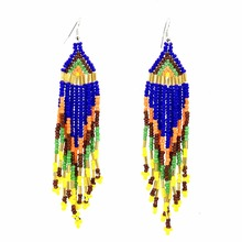 Fashion Jewelry Seedbead Beaded Drop Earrings for Women