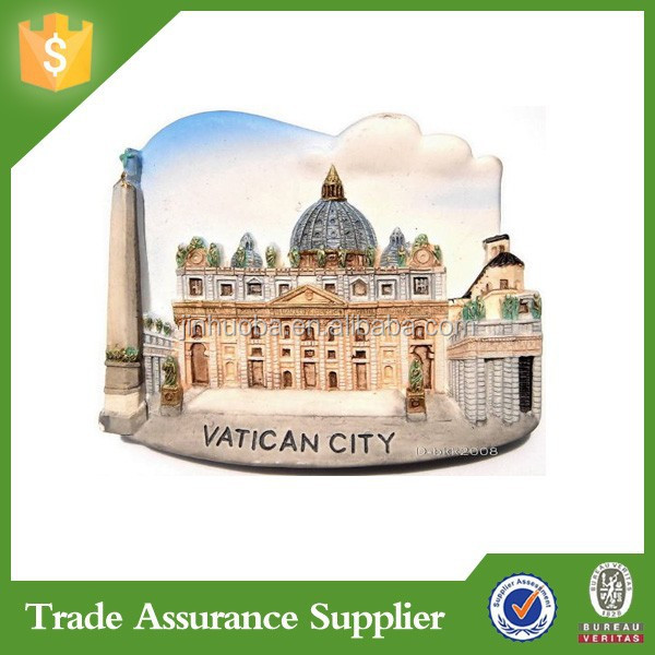 St Peters Basilica Vatican City World Italy High Quality Resin 3D Fridge Magnets