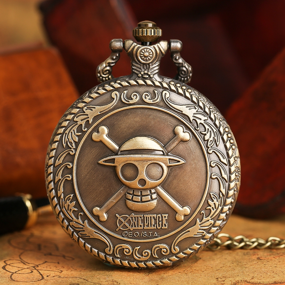 Men's Japan Cartoon Anime One Piece Pocket Watch Fashion Men Women Necklace Chain Vintage Steampunk Fob Watch Drop Free Shipping 2017 2018 Best Gifts (2)