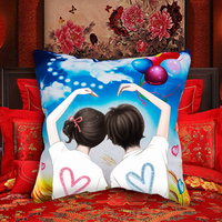 Lovers DIY Pillow Chinese 3d dmc counted cross-stitch kit embroidery wholesale Needlework set fabric machine thread