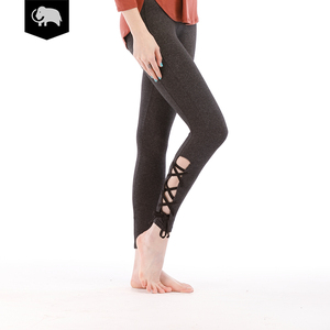 Fitness Dancing Women Sexy Tight Soft Sport Yoga Pants Ripped Bandage Leggings