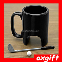 OXGIFT 2015 New exotic products ceramic golf cup