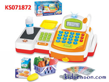 KIDSEASON BOYS TOY ELECTRONIC PRETEND PLAY CASHIER WITH LIGHT WITH CALCULATOR AND SCANNING