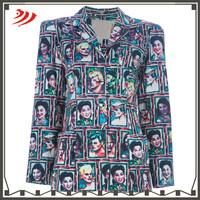 custom new design printing women suit jacket jacket blazer women