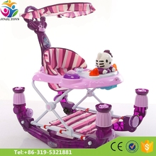 2 in 1 baby trolley walker/8 swivel rubber wheels inflantable baby walker with music and toys