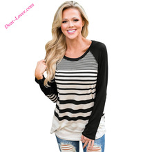 long sleeve women Striped new blouse designs
