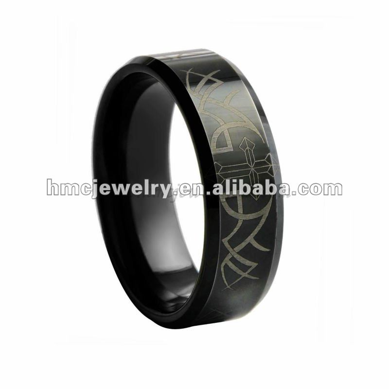 8MM Black Celtic Tungsten Men's Ring Wedding Band Cool Gifts Mens Jewelry