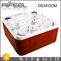 Balboa music system rectangular freestanding acrylic 6 person massage whirlpool hydro spa hot tub