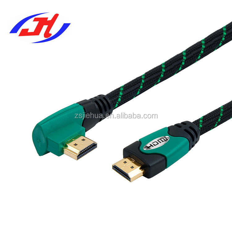 High Speed Right Angle HDMI Cable 4K 18Gbps Gold Plated Connectors with Ethernet Audio Return 2160p 3D for Xbox PlayStation