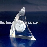 Pyramid Crystal Clock for office decoration