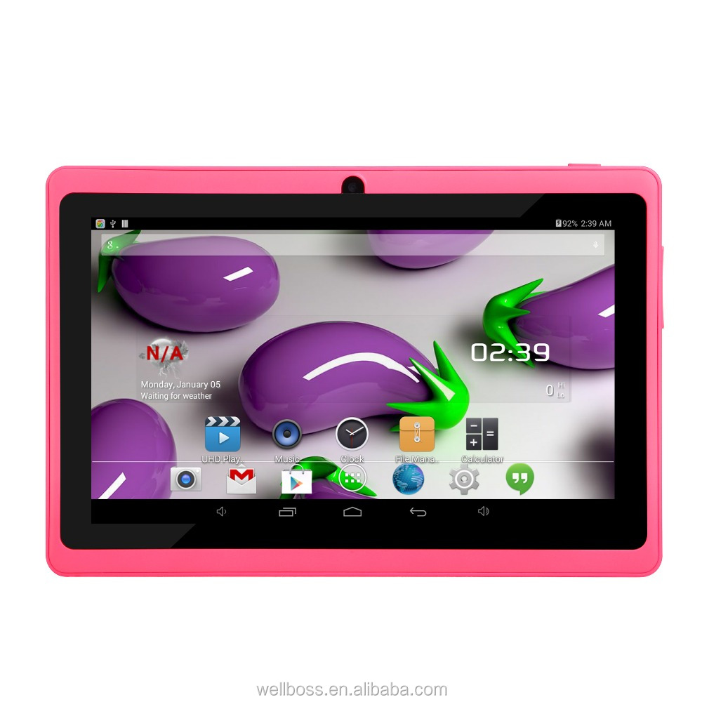 high quality Q88 A33 quad core os android 4.4 wifi ,Bluetooth .7inch tab pc for kids