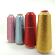 Pure silver pure gold M type flat metallic yarn for making round covered yarn