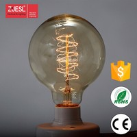 antique led edison style light bulbs g125 spiral carbon filament lamp