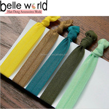 new fashion hair elastic tie stretch hair band knotted rubber bands