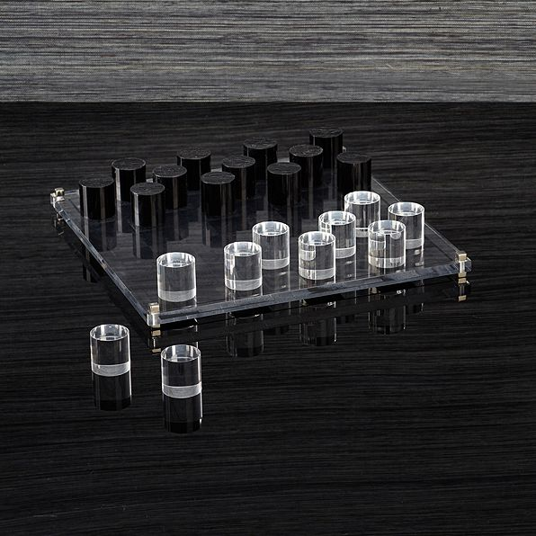 Acrylic chess set acrylic chess block
