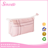 promotional classic style waterproof polyester cosmetic bag for women