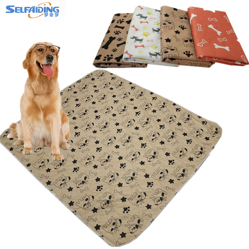 Super Absorbent Washable Pet Mat Exquisite Printed Waterproof Reusable Puppy Pads Dog Wee Pee Pads