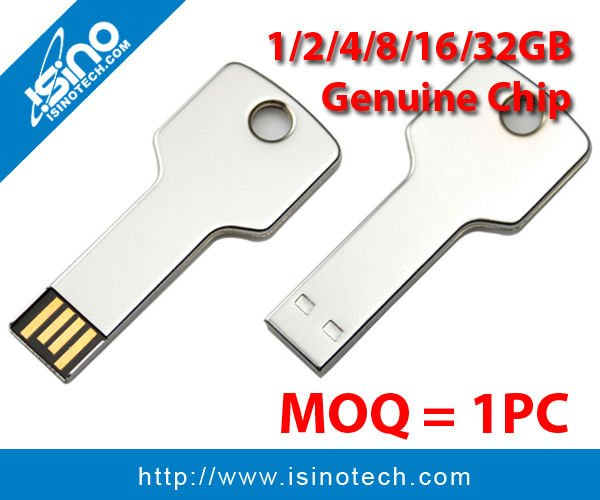 High Quality Metal Key USB Stick with 8GB Genuine Chip High Speed