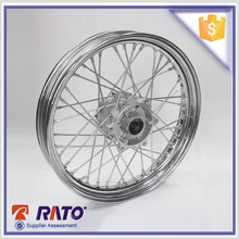 White 18 inch spoke wire motorcycle wheels for sale