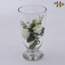 Clear glass footed vases, clear glass vases for wedding centerpieces