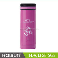 cartoon and lovely stainless steel vacuum flask & cup &thermos fo lady