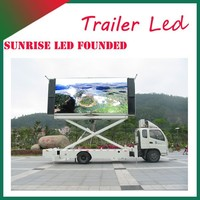 Sunrise outdoor LED Advertising truck, mobile led video truck,custom built led ad truck