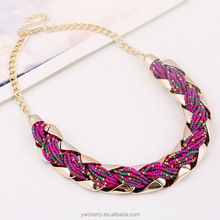 2015 fashion jewelry in brazil plastic beads alloy necklace for summer Hawaii bikini girl jewelry