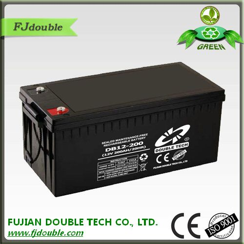 Alibaba website 12v 200ah wind power storage battery DB12-200