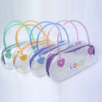 Cheapest Small Recycle Pvc Shopping Bag , Toiletry Bag Pvc Transparent
