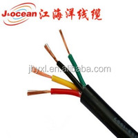 flexible pvc cover rvv wire cable 4*2.5 mm2 4*1.5 mm2 with 100m/roll