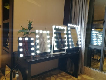 young people likes Best Quality LED Mirror Hollywood LED Makeup Mirror With Light Bulbs