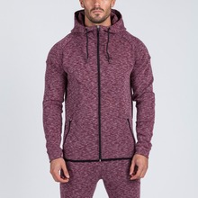 polyester cotton mens speckled custom tracksuits