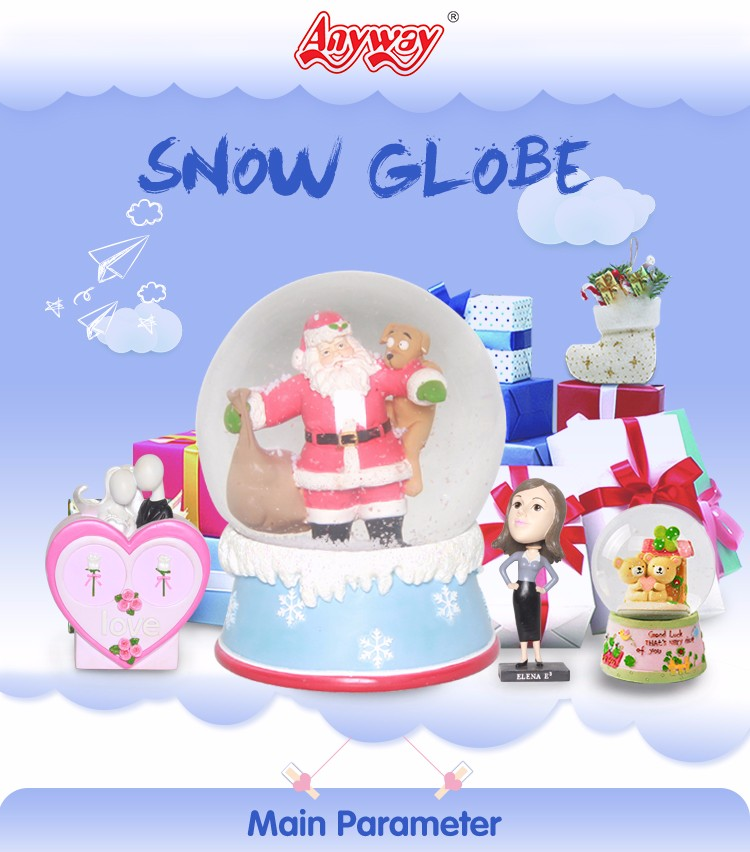 Customized air museum large musical snow globes