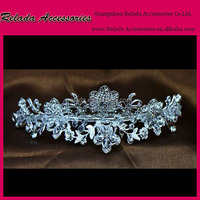 Factory Wedding New design hair accessories small ballet crystal bridal tiaras combs
