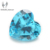 Unique Jewelry Making Gemstone Accessory Heart Shape Medium Aqua Blue colored cubic zircon