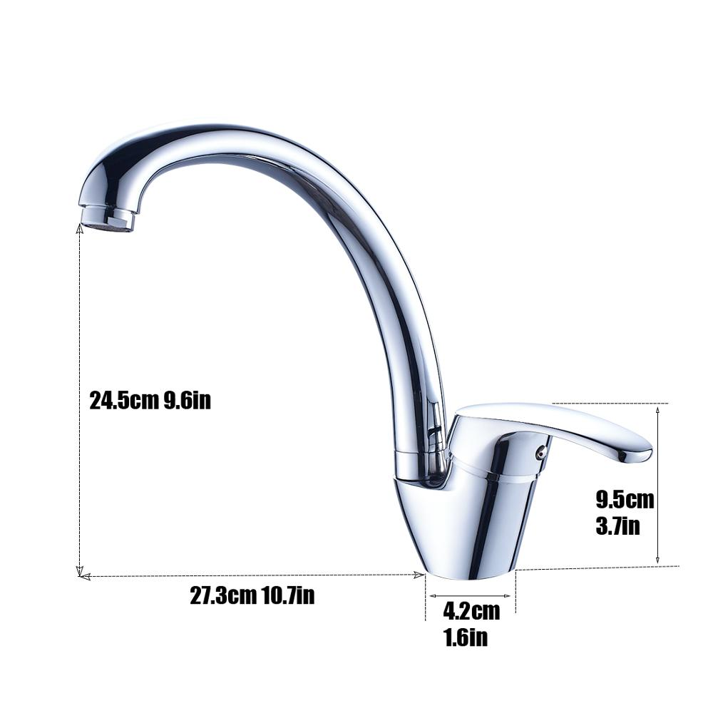 SS Long Spout commercial kitchen faucet made in China