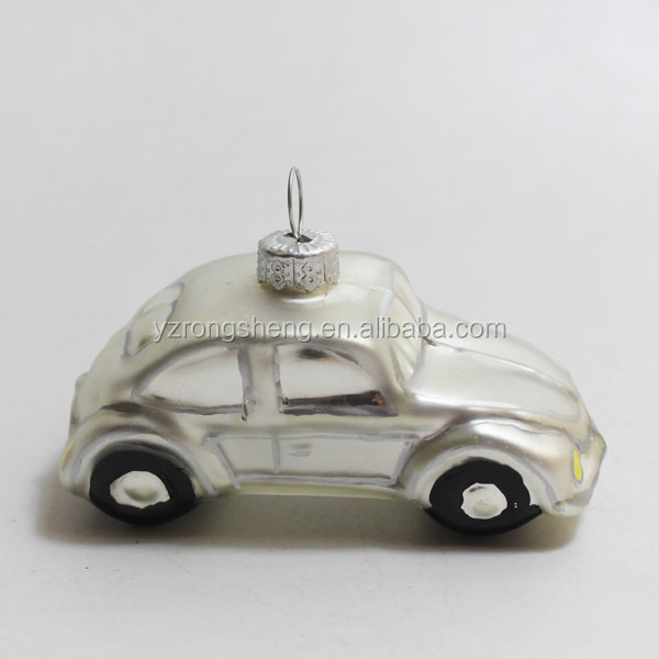 Cheap hanging artificial car / mini Christmas tree ornaments supply