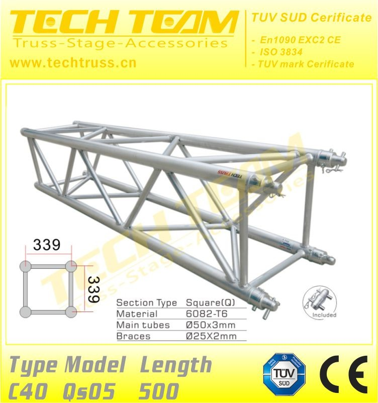 Square speaker truss box 400mm*400mm trussing light truss aluminum