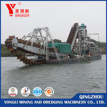 Chinese manufacturer customized bucket gold dredge boats for sale